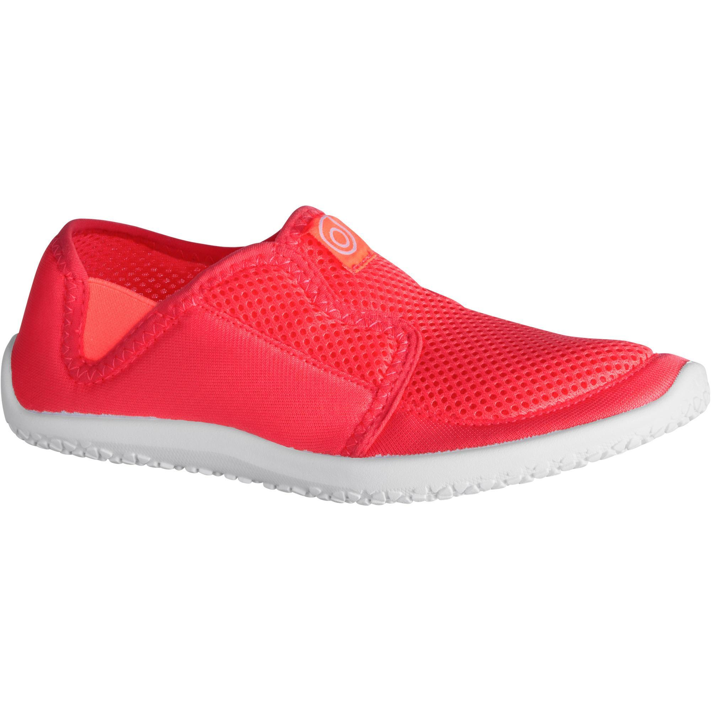 Chaussures aquatiques Aquashoes 120 enfant rose corail - Subea