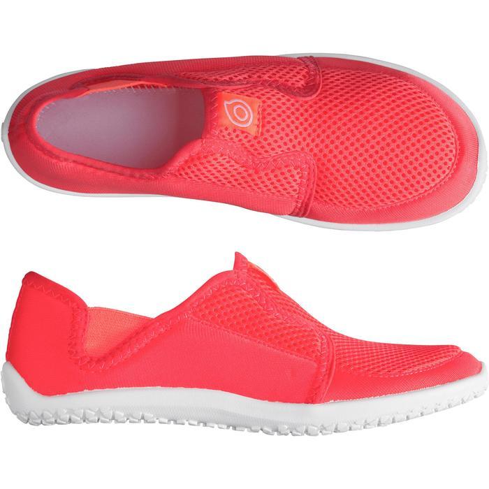 Chaussures aquatiques Aquashoes 120 enfant bleues jaunes - 1238274