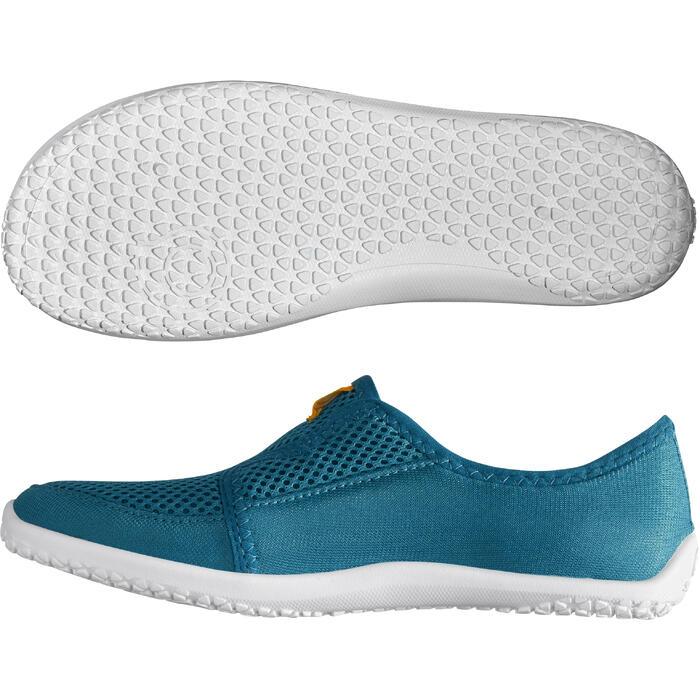 Escarpines Cangrejeras Zapatillas Acuáticas de Snorkel Subea SNK120 Niño Azul
