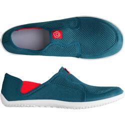 Aquaschuhe 120 Erwachsene blau/rot