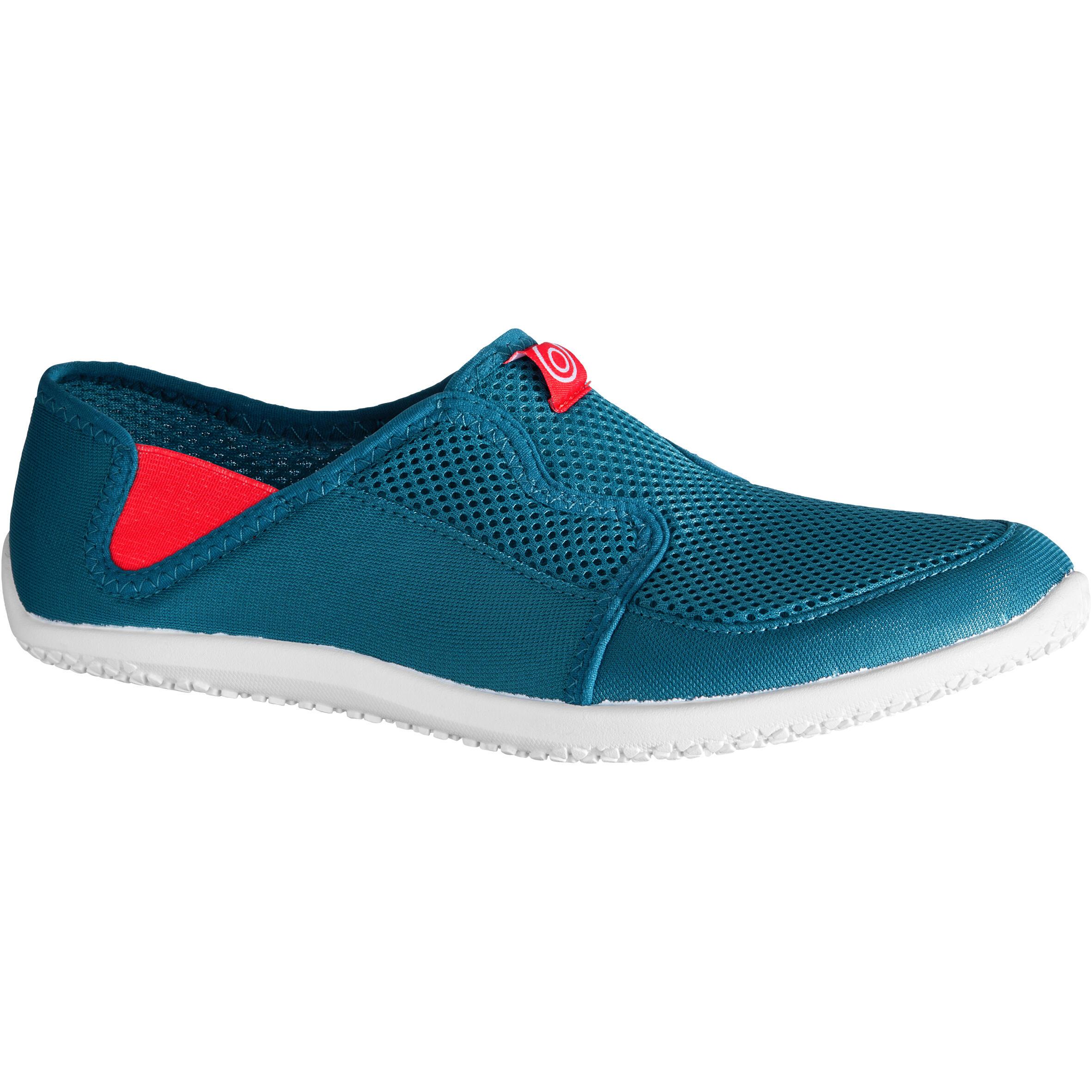 Aquashoes chaussures aquatiques 120 adulte bleu rouge - Subea
