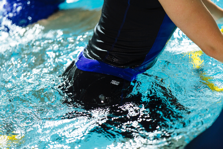 Bas de maillot aquacycle femme Anna noir bleu