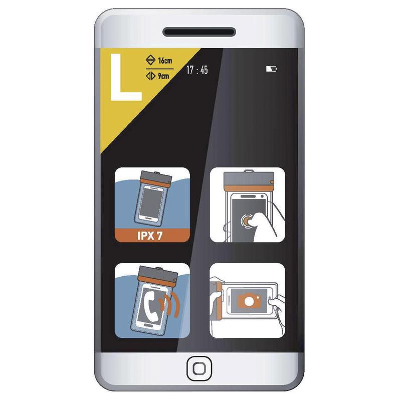 ถุงกันน้ำใส่โทรศัพท์ขนาดใหญ่รุ่น IPX7