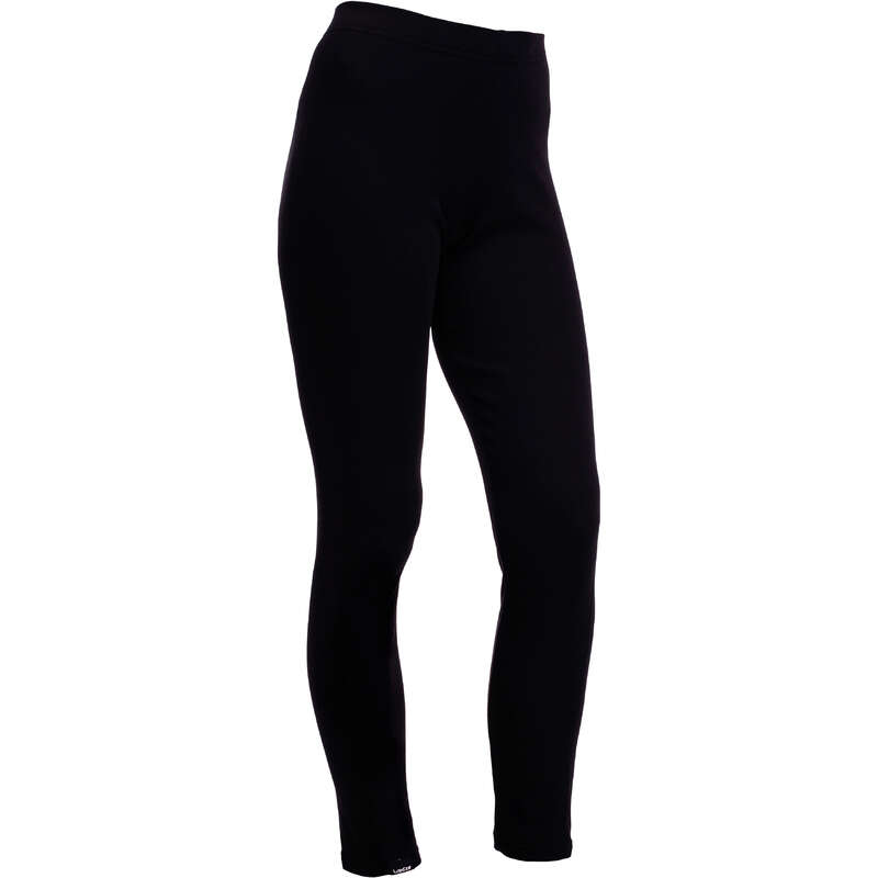 WOMEN SKI BASELAYER & PULL Skiing - Simple Warm Women's Trousers - Black WEDZE - Ski Wear