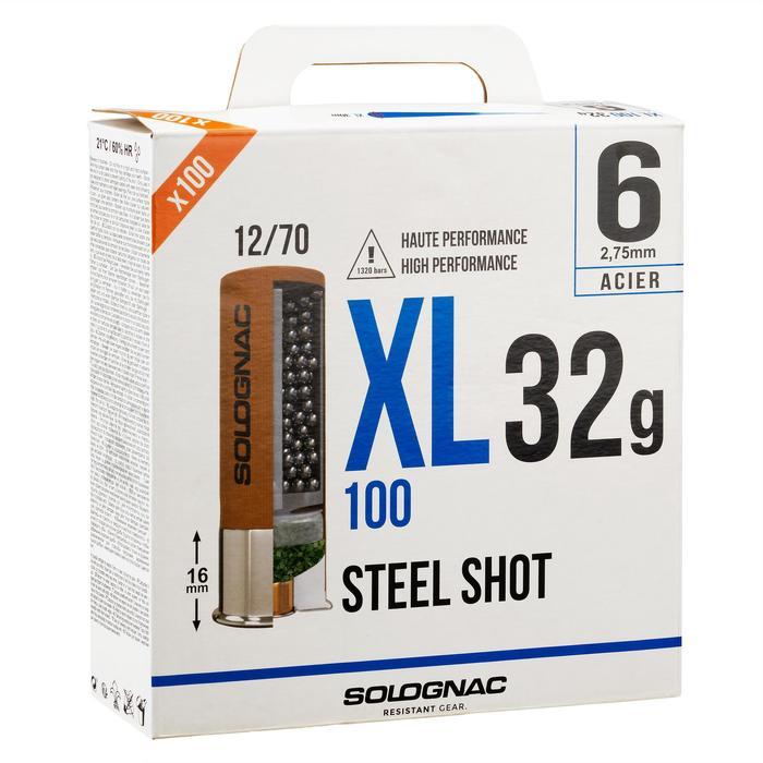 CARTOUCHE XL100 32g BILLE ACIER CAL12/70 N°6 X25