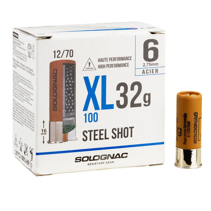 CARTUCHO XL100 32g ACERO CAL12/70 N.º 6 X25