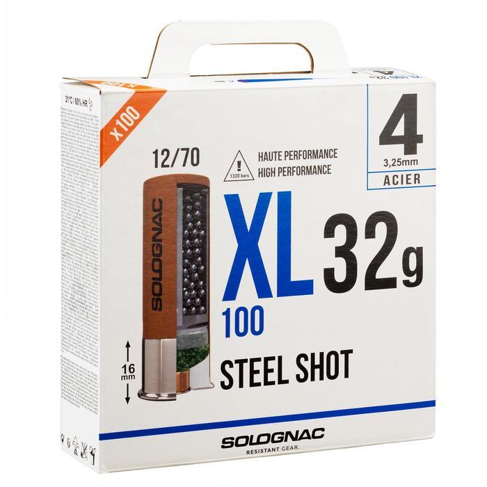 CARTOUCHE XL100 32g BILLE ACIER CAL12/70 N°4 X25
