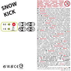 Schneescooter Snow Kick Kinder blau
