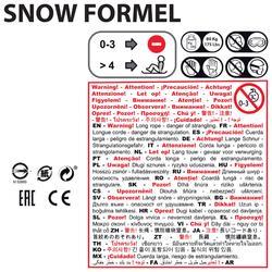 Trineo infantil con freno, Snow Formel, rojo