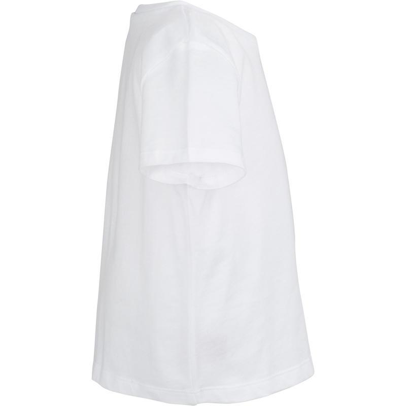 Camiseta de manga corta Gimnasia infantil 100 blanca