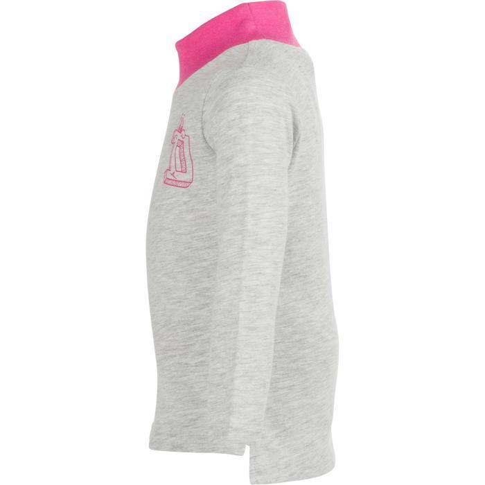 Set van 2 peutershirts met lange mouwen en staande kraag voor gym grijs