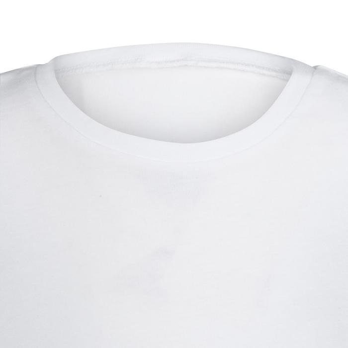 T-shirt met korte mouwen 100 voor kleutergym wit