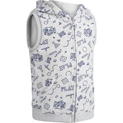 100 Baby Sleeveless Gym Jacket - Grey Print