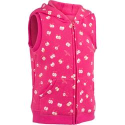 100 Baby Sleeveless Gym Jacket - Pink Print