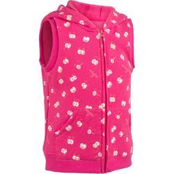 500 幼兒無袖健身外套-粉紅印花