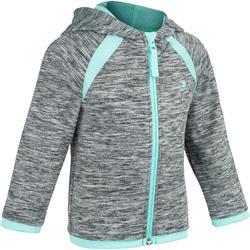 Warme gym hoodie met rits voor peuters