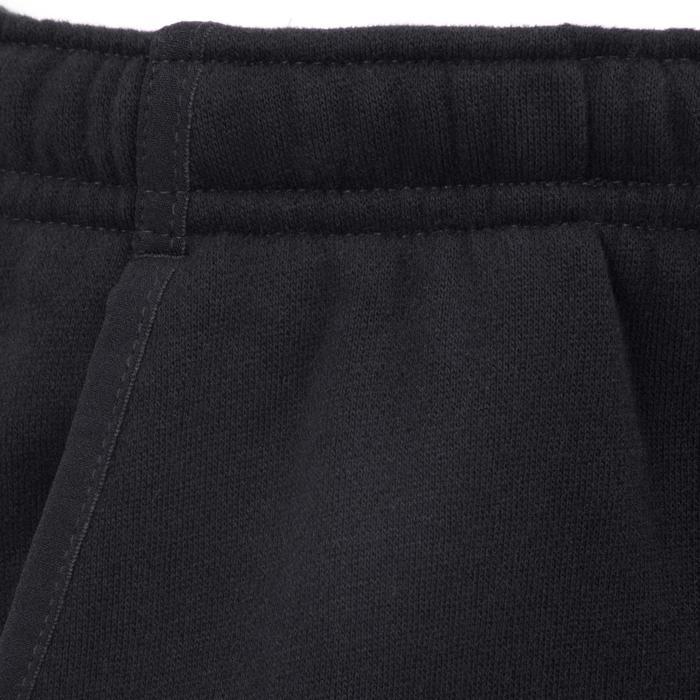 Warme gymbroek 500, regular fit, met zakken, voor jongens, zwart