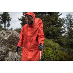 Poncho pluie de randonnée - FORCLAZ 75 rouge Taille S/M
