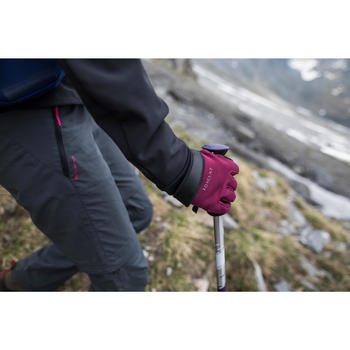 Handschoenen voor bergtrekking Trek 500 volwassenen paars