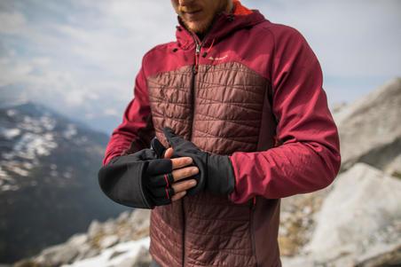 Sarung Tangan Mitten Pendaki Gunung Trek 500 - Hitam
