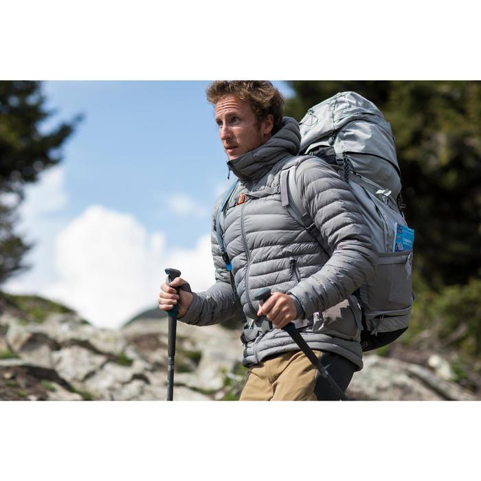 Heren donsjas voor bergtrekking Trek 500 grijs