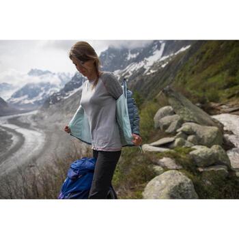 T-shirt met lange mouwen voor bergtrekking Techwool 190 dames grijs