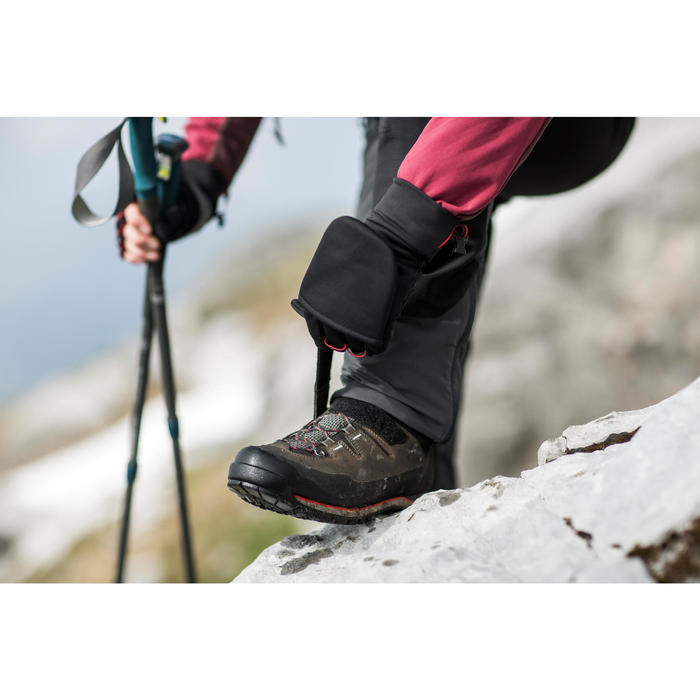 Guantes trekking montaña TREK 500 Mitones negro