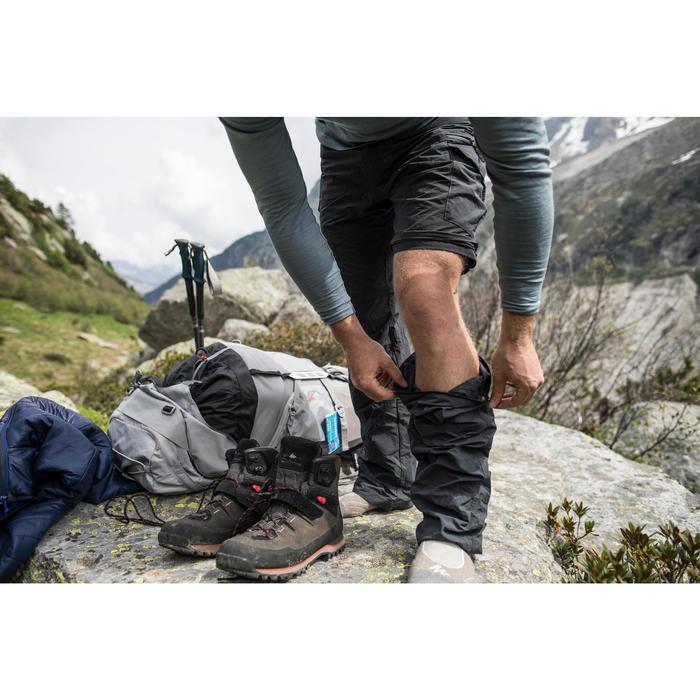 Heren afritsbroek voor bergtrekking Trek 100 donkergrijs