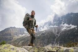 Veste coquille souple RANDONNÉE en montagne RANDO 900 WINDWARM homme kaki