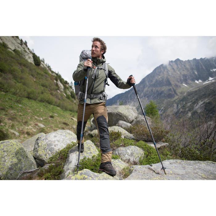 Veste softshell trekking montagne TREK900 WINDWARM homme bleu
