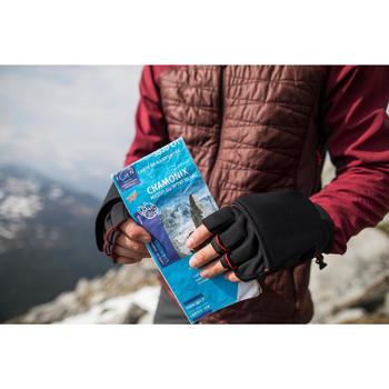 2-in-1-Handschuhe / Fäustlinge Trek 500 schwarz
