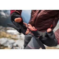 Mitones trekking montaña Guantes TREK 500 negros
