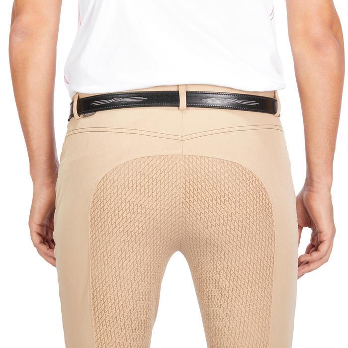 Pantalon équitation homme 580 FULLGRIP assise silicone beige