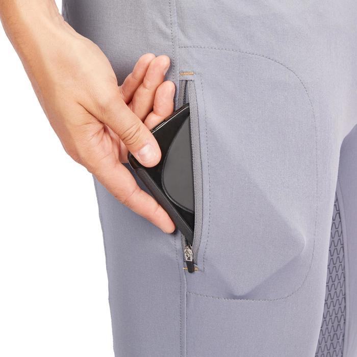 Pantalon équitation homme BR980 LIGHT full grip silicone gris