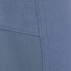 Pantalón equitación hombre BR340 badanas adherentes Gris azulado