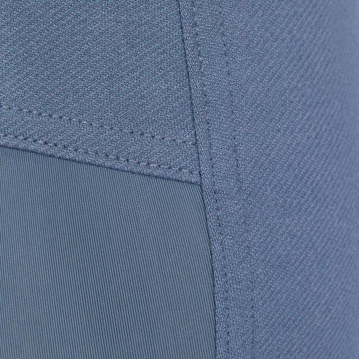 Rijbroek voor heren BR340 leer met grip grijs-blauw