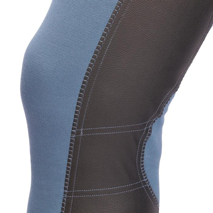Pantalon équitation homme BR340 basanes agrippantes gris bleuté
