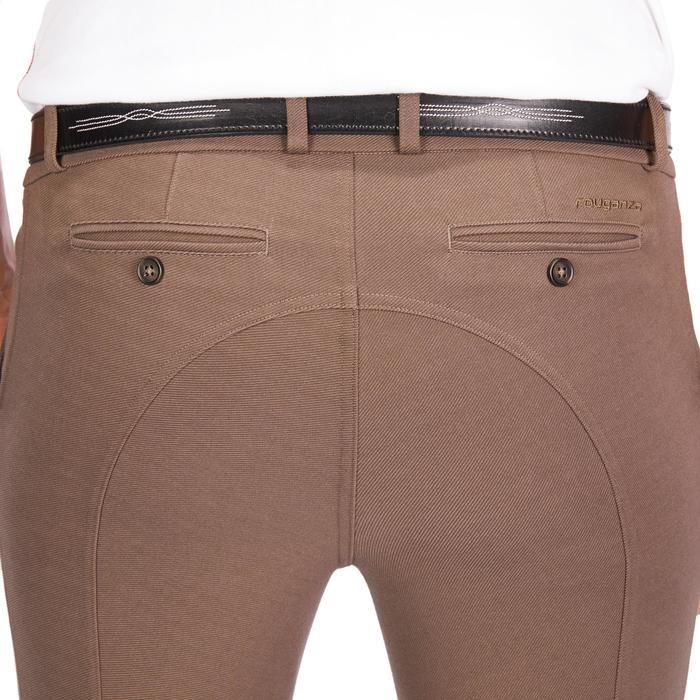 Pantalón equitación hombre BR340 badanas adherentes marrón
