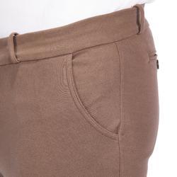 Pantalon équitation homme 140 basanes agrippantes marron
