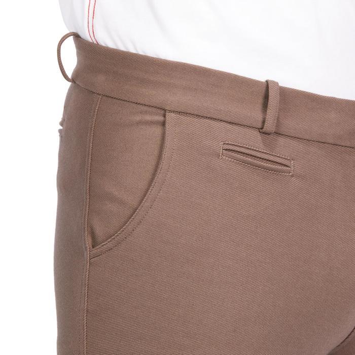 Pantalon équitation homme BR340 basanes agrippantes marron