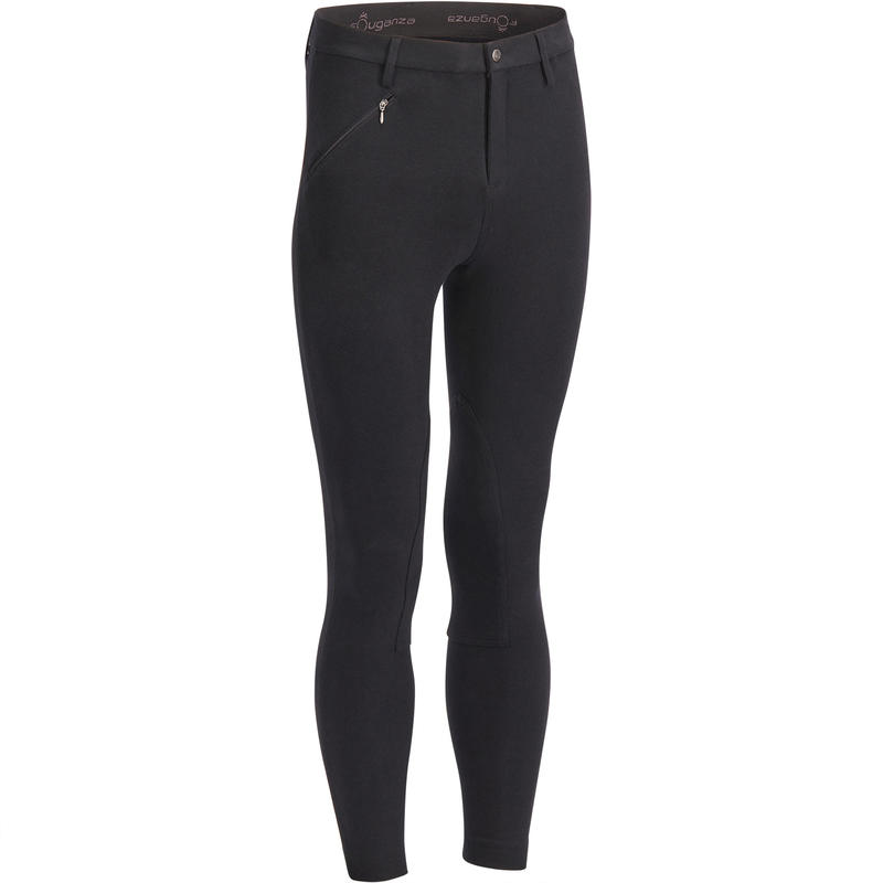 Pantalon Equitacion Hombre Br100 Negro