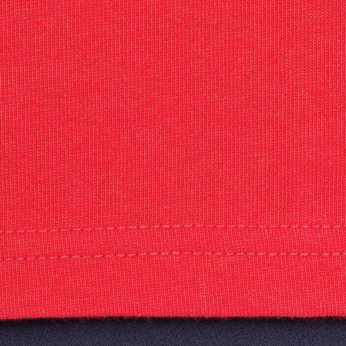 Herenpolo met korte mouwen ruitersport 100 rood