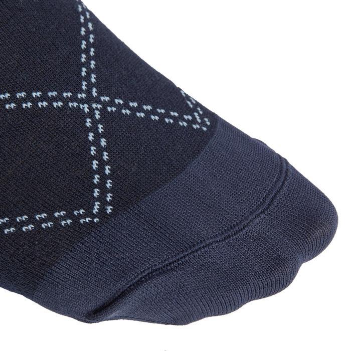 Reitsocken 500 Light Damen marineblau/türkis