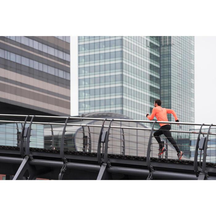 TEE SHIRT MANCHES LONGUES  RUNNING HOMME RUN WARM+ NOIR CHINé - 1239751
