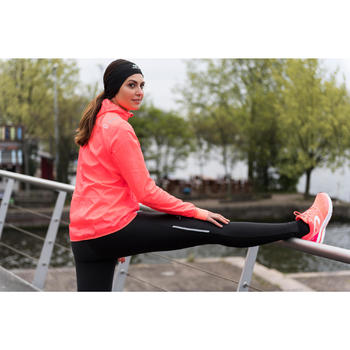 VESTE COUPE VENT JOGGING FEMME RUN WIND CORAIL FLUO - 1239763