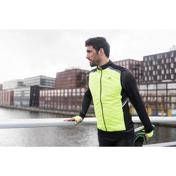 Run Warm+ Men's Running Sleeveless Gilet - Mottled Black  - 1239764