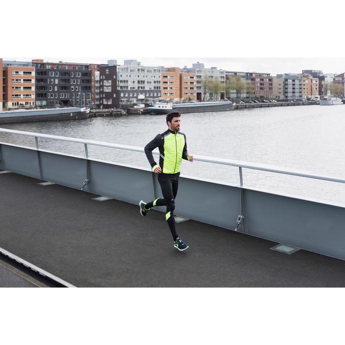 Run Warm+ Men's Running Sleeveless Gilet - Mottled Black  - 1239793