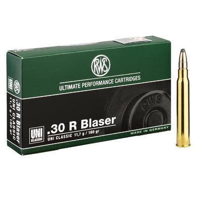 Munition RWS Calibre 30 R Blaser Uni 11.7g