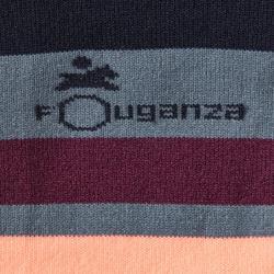 Calcetines equitación adulto SKS100 Gris con rayas rosas x 1 par