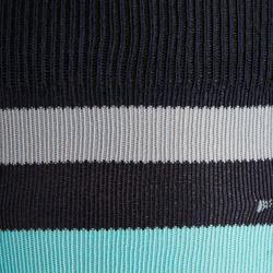 Reitsocken 100 Erwachsene marineblau mit rosafarbenen Streifen